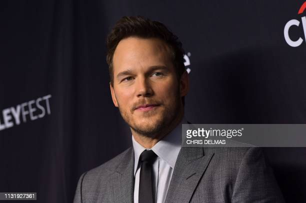 """Actor Chris Pratt arrives for the PaleyFest presentation of NBC's """"Parks and Recreation"""" 10th Anniversary Reunion at the Dolby theatre on March 21,..."""
