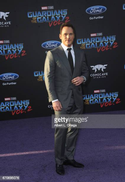 Actor Chris Pratt arrives for the Premiere Of Disney And Marvel's Guardians Of The Galaxy Vol 2 held at Dolby Theatre on April 19 2017 in Hollywood...