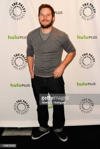 Actor Chris Pratt arrives to The Paley Center for Media's PaleyFest Honoring 'Parks and Recreation' at Saban Theatre on March 6 2012 in Beverly Hills...