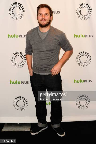 Actor Chris Pratt arrives to The Paley Center for Media's PaleyFest Honoring Parks and Recreation at Saban Theatre on March 6 2012 in Beverly Hills...