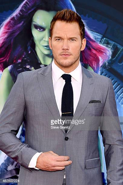 Actor Chris Pratt attends Marvel's 'Guardians Of The Galaxy' Los Angeles Premiere at the Dolby Theatre on July 21 2014 in Hollywood California