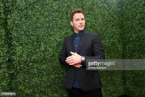 Actor Chris Pratt attends the 2018 MTV Movie And TV Awards at Barker Hangar on June 16 2018 in Santa Monica California