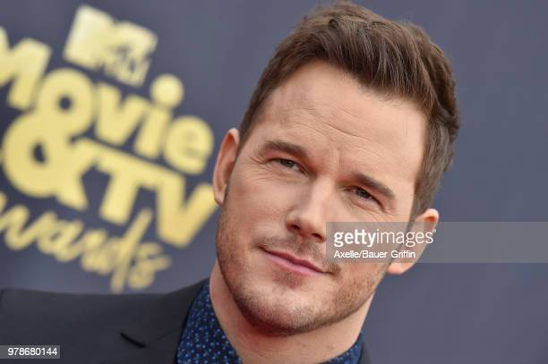 Actor Chris Pratt attends the 2018 MTV Movie And TV Awards at Barker Hangar on June 16 2018 in Santa Monica California