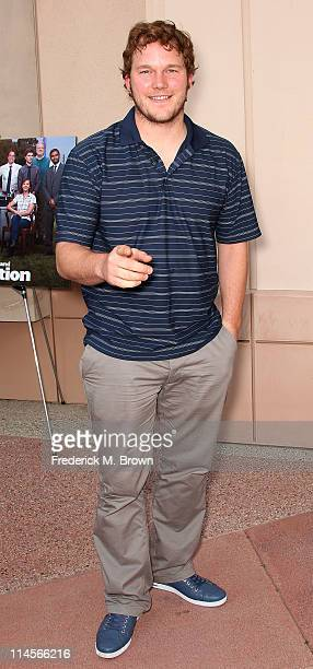 Actor Chris Pratt attends the Emmy Screening for NBC's Parks and Recreation at the Leonard H Goldenson Theatre on May 23 2011 in North Hollywood...
