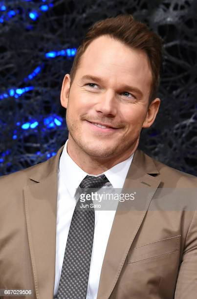 Actor Chris Pratt attends the 'Guardians of the Galaxy Vol2' press conference at the RitzCarlton on April 11 2017 in Tokyo Japan