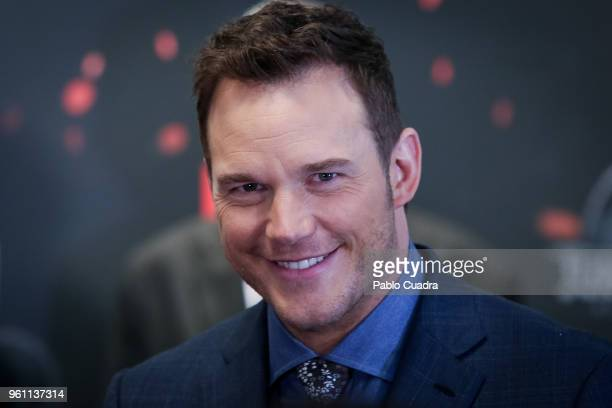 Actor Chris Pratt attends the 'Jurassic World Fallen Kindom' premiere at WiZink Center on May 21 2018 in Madrid Spain