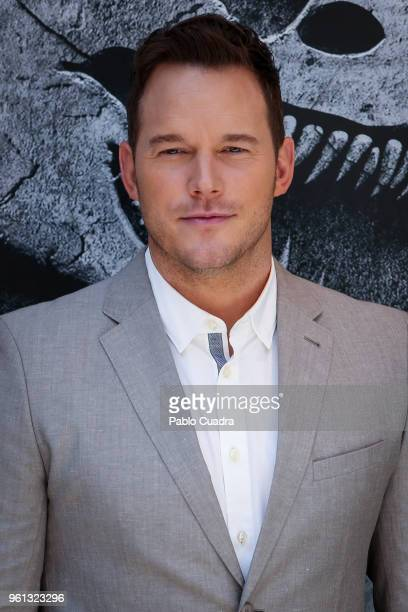 Actor Chris Pratt attends the 'Jurassic World: Fallen Kingdom' photocall at Villa Magna Hotel on May 22, 2018 in Madrid, Spain.