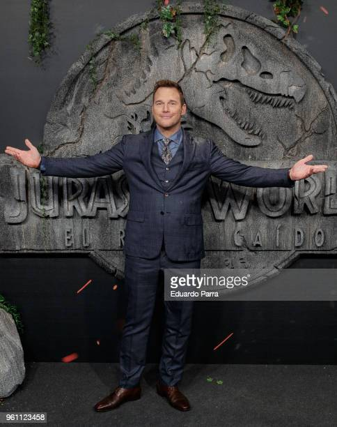 Actor Chris Pratt attends the 'Jurassic World Fallen Kingdom' premiere at Wizink Center on May 21 2018 in Madrid Spain