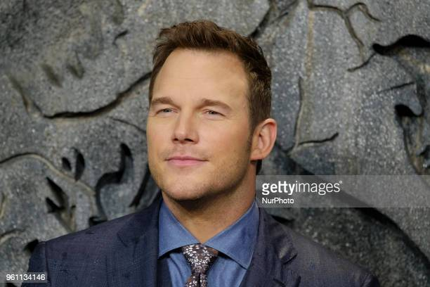 Actor Chris Pratt attends the Jurassic World Fallen Kingdom premiere at Wizink Center on May 21 2018 in Madrid Spain