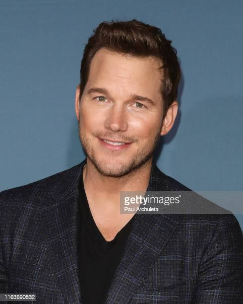 """Actor Chris Pratt attends the """"Jurassic World-The Ride"""" grand opening celebration at Universal Studios Hollywood on July 22, 2019 in Universal City,..."""