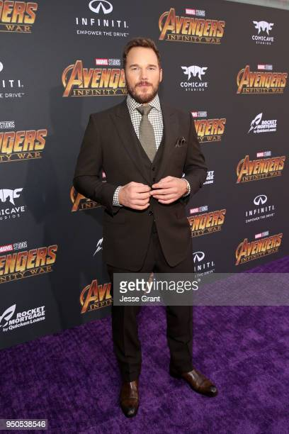 Actor Chris Pratt attends the Los Angeles Global Premiere for Marvel Studios' Avengers: Infinity War on April 23, 2018 in Hollywood, California.