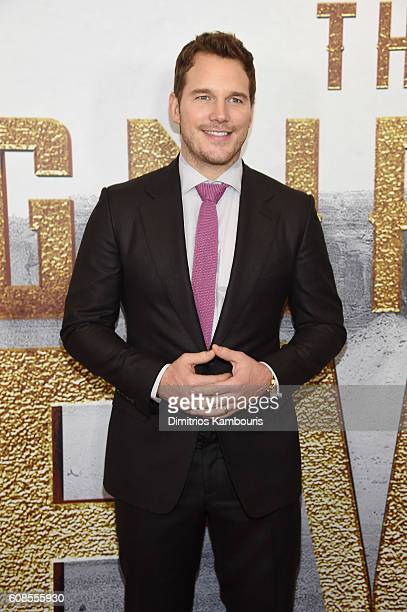 Actor Chris Pratt attends The Magnificent Seven premiere at Museum of Modern Art on September 19 2016 in New York City