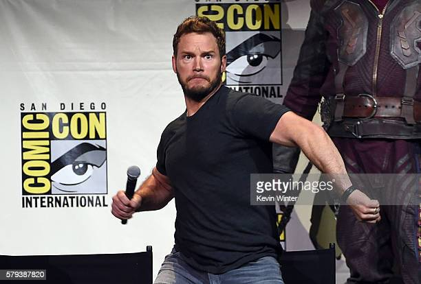 Actor Chris Pratt attends the Marvel Studios presentation during Comic-Con International 2016 at San Diego Convention Center on July 23, 2016 in San...