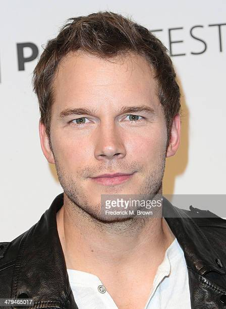Actor Chris Pratt attends The Paley Center for Media's PaleyFest 2014 Honoring 'Parks and Recreation' at the Dolby Theatre on March 18 2014 in...