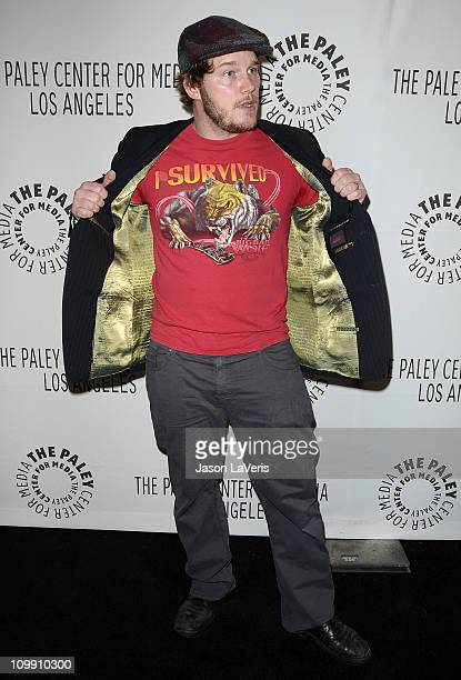 Actor Chris Pratt attends the 'Parks Recreation' event at PaleyFest 2011 at Saban Theatre on March 9 2011 in Beverly Hills California