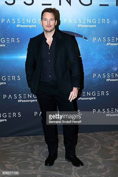 """Actor Chris Pratt attends the """"Passengers"""" Paris Photocall at Hotel George V on November 29, 2016 in Paris, France."""