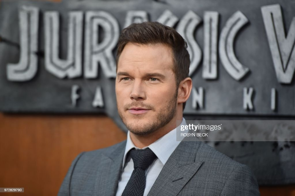 US actor Chris Pratt attends the premiere of 'Jurassic World: Fallen Kingdom' on June 12, 2018 at The Walt Disney Concert Hall in Los Angeles, California.