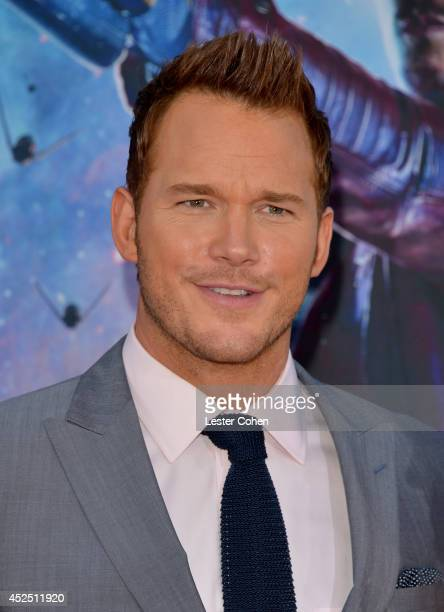 Actor Chris Pratt attends the premiere of Marvel's 'Guardians Of The Galaxy' at the El Capitan Theatre on July 21 2014 in Hollywood California