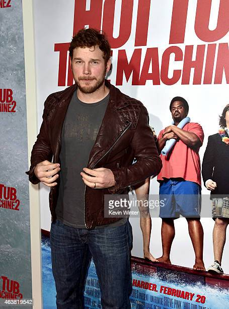 Actor Chris Pratt attends the premiere of Paramount Pictures' Hot Tub Time Machine 2 at Regency Village Theatre on February 18 2015 in Westwood...