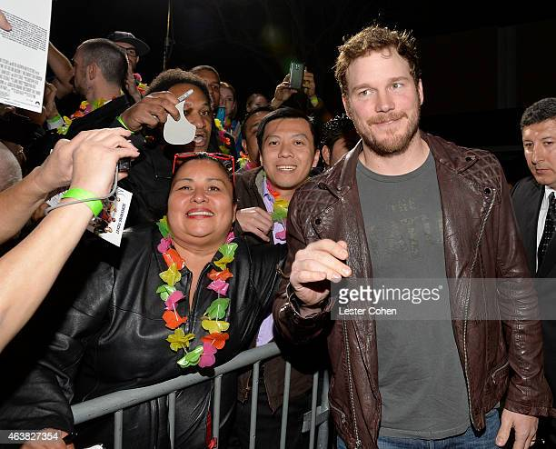 Actor Chris Pratt attends the premiere of Paramount Pictures' 'Hot Tub Time Machine 2' at Regency Village Theatre on February 18 2015 in Westwood...