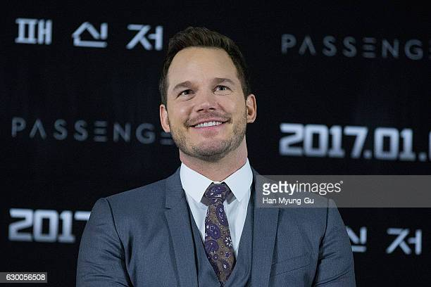 """Actor Chris Pratt attends the press conference for """"Passengers"""" at CGV on December 16, 2016 in Seoul, South Korea. The film will open on January 05,..."""