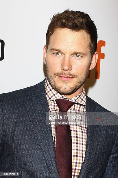 Actor Chris Pratt attends the 'The Magnificent Seven' premiere held at Roy Thomson Hall during the Toronto International Film Festival on September 8...