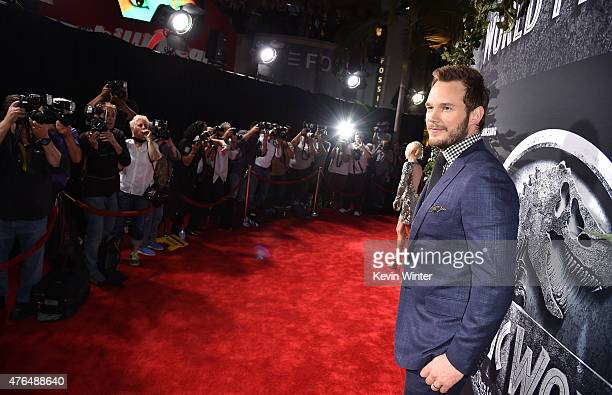 Actor Chris Pratt attends the Universal Pictures' Jurassic World premiere at the Dolby Theatre on June 9 2015 in Hollywood California