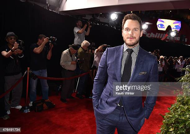 Actor Chris Pratt attends the Universal Pictures' 'Jurassic World' premiere at the Dolby Theatre on June 9 2015 in Hollywood California