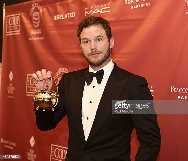 Actor Chris Pratt is honored as the Hasty Pudding Theatricals' 2015 Man Of The Year on February 6 2015 in Cambridge Massachusetts