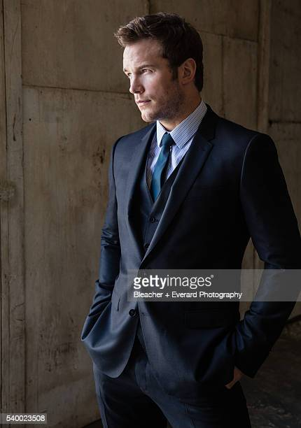 Actor Chris Pratt is photographed for Prestige Magazine on March 18 2014 in Los Angeles California