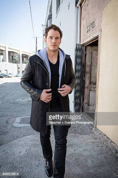 Actor Chris Pratt is photographed for Prestige Magazine on March 18 2014 in Los Angeles California Styling Erin McSherry Grooming Lauren Hill Jacket...