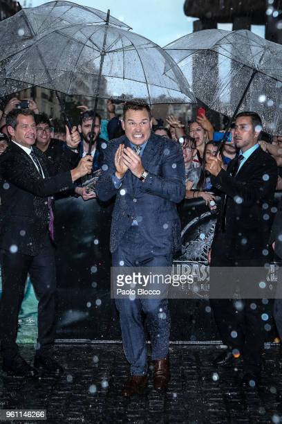 Actor Chris Pratt is seen arriving at the 'Jurassic World Fallen Kindom' premiere at WiZink Center on May 21 2018 in Madrid Spain