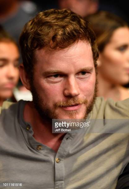 Actor Chris Pratt is seen in attendance during the UFC 227 event inside Staples Center on August 4 2018 in Los Angeles California