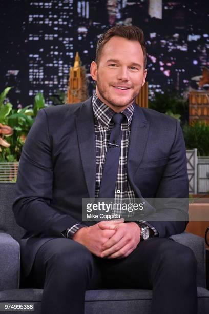 Actor Chris Pratt visits 'The Tonight Show Starring Jimmy Fallon' at Rockefeller Center on June 14 2018 in New York City