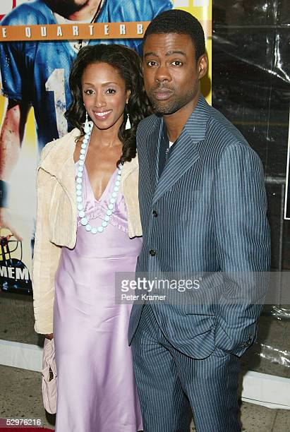 Actor Chris Rock and wife Malaak ComptonRock attend a special screening of The Longest Yard May 24 2005 in New York City