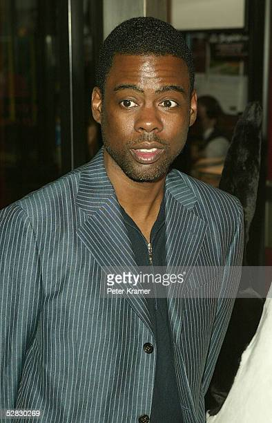 Actor Chris Rock arrives at the premiere of Madagascar at the Ziegfeld Theater May 15 2005 in New York City