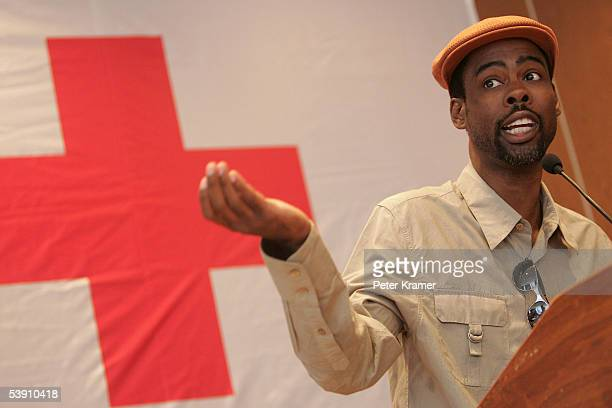 Actor Chris Rock attends a BET and National Urban League press conference for hurricane Katrina benefit on September 1 2005 in New York City