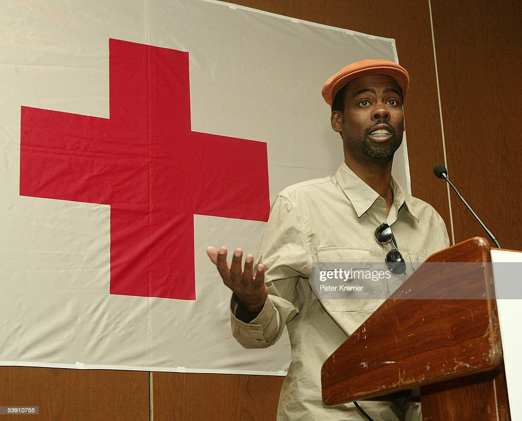 Actor Chris Rock attends a BETand National Urban League press conference for hurricane Katrina benefit on September 1, 2005 in New York City.