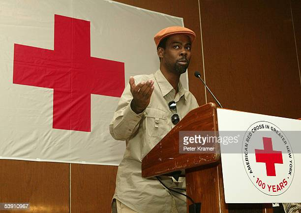 Actor Chris Rock attends a BETand National Urban League press conference for hurricane Katrina benefit on September 1 2005 in New York City
