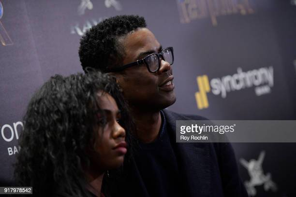 Actor Chris Rock attends the screening of Marvel Studios' 'Black Panther' hosted by The Cinema Society on February 13 2018 in New York City