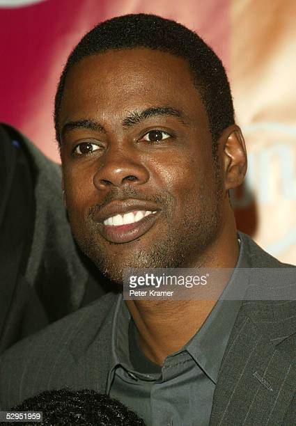 Actor Chris Rock attends the UPN network upfront at Madison Square Garden on May 19 2005 in New York City