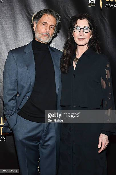 Actor Chris Sarandon and actress Joanna Gleason attend the 2016 Lucille Lortel Awards on May 01 2016 in New York New York