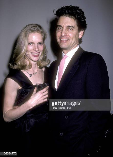 Actor Chris Sarandon and wife Lisa Ann Cooper attend the 1986 DW Griffith Awards on January 17 1986 at The Japan Society in New York City New York