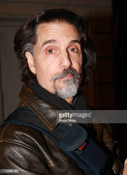 Actor Chris Sarandon poses as he departs after Jennifer Garner's final performance as Roxanne in the Broadway revival of Cyrano de Bergerac on...