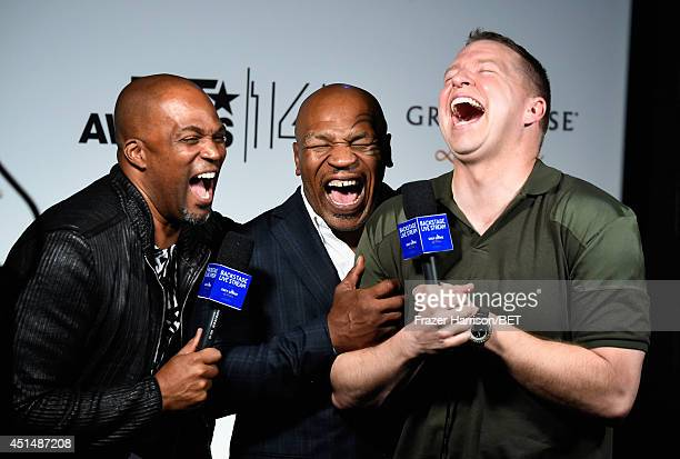 Actor Chris Spencer former boxer Mike Tyson and actor Gary Owen attend the BET AWARDS '14 at Nokia Theatre LA LIVE on June 29 2014 in Los Angeles...