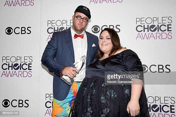 Actor Chris Sullivan and actress Chrissy Metz winners of the Favorite New TV Drama 'This is Us' pose in the press room during the People's Choice...