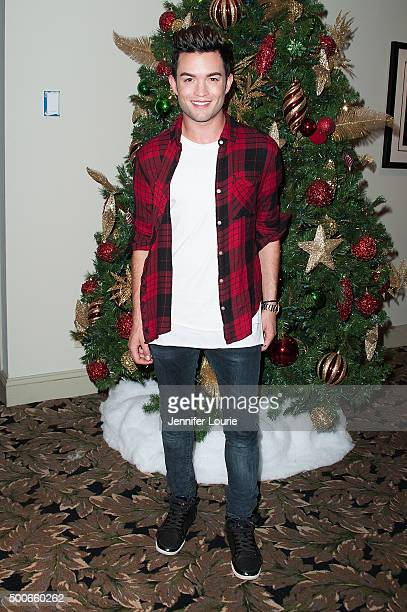 Actor Chris Trousdale arrives as The Dolores Mission School visits The Hollywood Museum for the holidays on December 9 2015 in Hollywood California