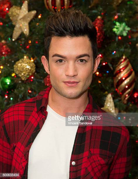 Actor Chris Trousdale attends the newly holiday decorated Hollywood Museum during The Dolores Mission School visit at The Hollywood Museum on...