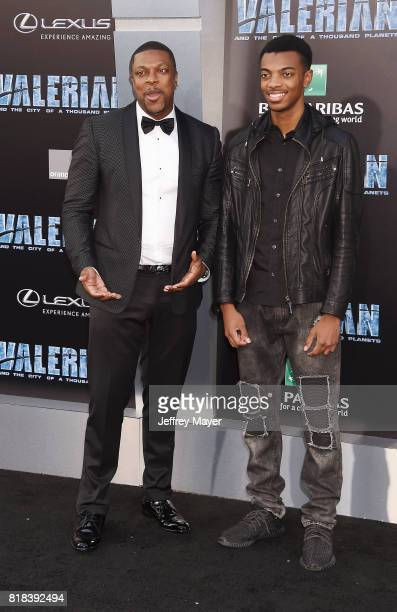 Actor Chris Tucker and Destin Tucker arrive at the Premiere Of EuropaCorp And STX Entertainment's 'Valerian And The City Of A Thousand Planets' at...