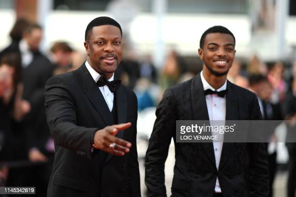 US actor Chris Tucker and his son Destin Christopher arrive for the screening of the film Once Upon a Time in Hollywood at the 72nd edition of the...